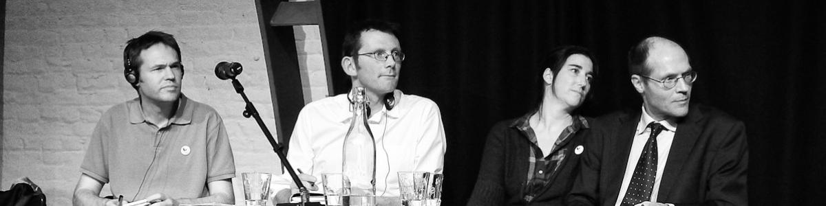 Photo par Christiane Désir / Panel orateurs / Tricoterie, Bruxelles