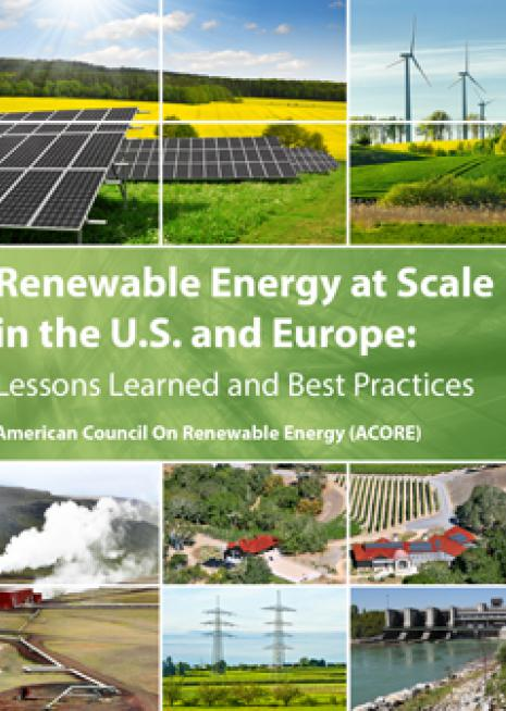 Renewable Energy at Scale in the U.S. and Europe