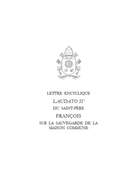 Encyclique du Pape Cover 2015